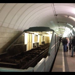 Photo taken at metro Avtozavodskaya by Alexander S. on 10/28/2012