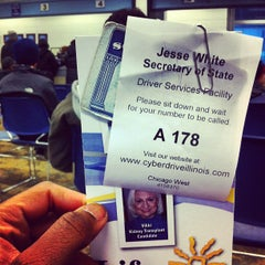 Photo taken at Illinois Secretary of State Driver Services Facility by Devin L. on 12/28/2012