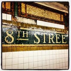 Photo taken at MTA Subway - 8th St/NYU (N/R) by Qasim R. on 9/12/2013