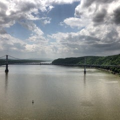 Photo taken at Walkway Over the Hudson State Historic Park by Kat E. on 5/12/2013