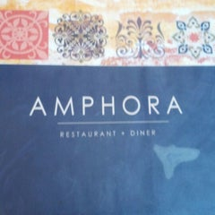 Photo taken at Amphora's Diner Deluxe by George D. on 12/23/2012