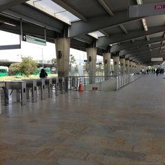 Photo taken at TransMilenio: Portal de Suba by Nancy E. on 4/6/2013