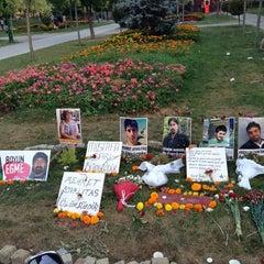 Photo taken at Taksim Gezi Parkı by Utku B. on 7/22/2013