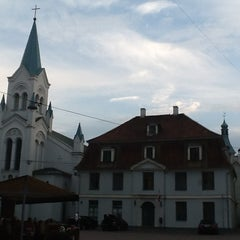 Photo taken at Pils laukums | Castle square by Leonid S. on 7/29/2013