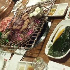 Photo taken at 명인등심 by Jeena K. on 12/9/2014
