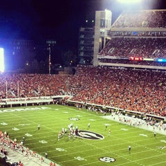 Photo taken at Sanford Stadium by Jamar L. on 9/16/2012
