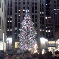 Photo taken at Rockefeller Center Christmas Tree by David K. on 12/23/2012