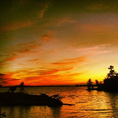 Photo taken at Stoney Lake by Andrew G. on 8/10/2013
