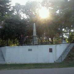 Photo taken at J.E.B. Stuart Monument & Mortal Wounding Site by Brooke B. on 7/29/2012