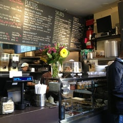 Photo taken at Taïm Falafel and Smoothie Bar by katy c. on 1/5/2013