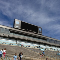Photo taken at Kenan Memorial Stadium by Jamy M. on 4/20/2013