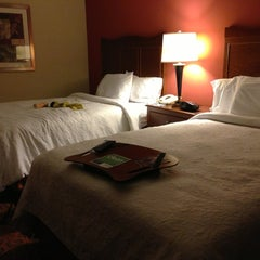Photo taken at Hampton Inn Convention Center by Irina S. on 12/26/2012