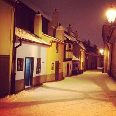 Photo taken at Zlatá ulička | The Golden Lane by Jaroslava S. on 1/15/2013
