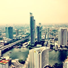Photo taken at The Tower Club at lebua by Kaspars T. on 12/11/2012
