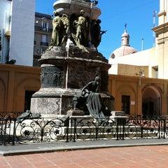 Photo taken at Plaza Dorrego by Mauricio G. on 4/7/2013