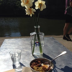 Photo taken at Towpath Cafe by Thalita M. on 4/14/2015