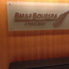 Photo taken at BM&F Bovespa by Gabriella P. on 12/2/2014