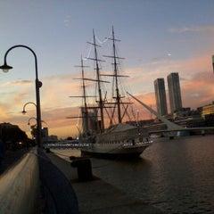 Photo taken at Puerto Madero by Nykonishi on 6/5/2013