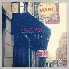 Photo taken at Nolita Mart & Espresso Bar by Terry C. on 3/8/2013