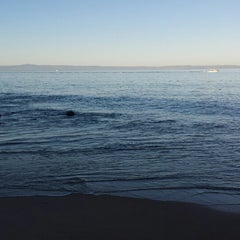 Photo taken at Breakwater Beach by kumi m. on 1/26/2015