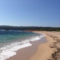 Photo taken at Capo Testa Spiaggia di Levante by Tiotio on 8/18/2014