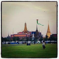 Photo taken at สนามหลวง (Sanam Luang) by Jeffy T. on 2/23/2013