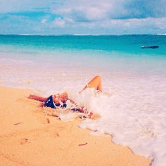 Photo taken at Pantai Pandawa (Pandawa Beach) by Анна Т. on 1/14/2015
