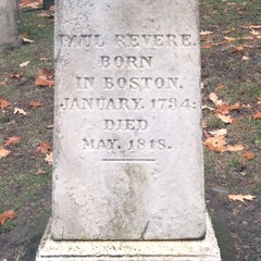 Photo taken at Paul Revere's Tomb by Sarah R. on 1/6/2014