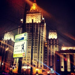 Photo taken at Смоленская-Сенная площадь by Nadya M. on 1/23/2013
