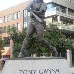 Photo taken at Tony Gwynn Statue by Al S. on 10/11/2012