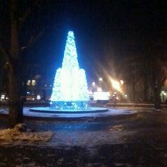 Photo taken at Jēkaba laukums (Jekaba square) by Linda K. on 12/6/2012