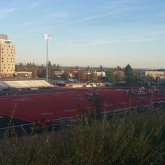 Photo taken at Roos Field by Chris D. on 10/15/2015