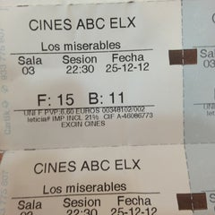 Photo taken at Cines ABC by Pepe A. on 12/25/2012