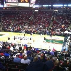Photo taken at KeyArena at Seattle Center by Kelly L. on 12/16/2012