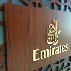 Photo taken at Emirates Business Class Lounge by Mark P. on 3/6/2013