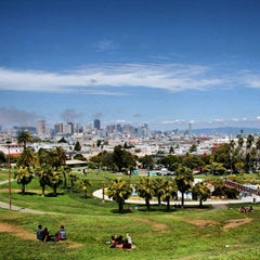 Photo taken at Mission Dolores Park by Matt V. on 5/29/2013