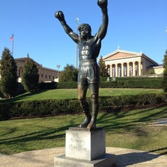 Photo taken at Rocky Statue by Tonia on 12/23/2012