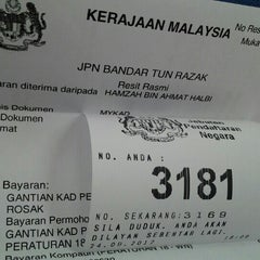 Photo taken at Jabatan Pendaftaran Negara JPN by Hamzah A. on 9/24/2012