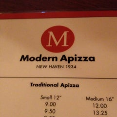 Photo taken at Modern Apizza by Amy G. on 4/28/2013