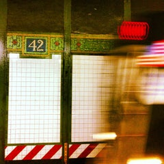 Photo taken at MTA Subway - 42nd St/Times Square/Port Authority Bus Terminal (A/C/E/N/Q/R/S/1/2/3/7) by Jessica L. J. on 5/21/2013
