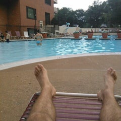 Photo taken at River Place Pool by Lukas Z. on 8/1/2015