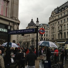 Photo taken at Oxford Circus by Danny H. on 5/24/2013