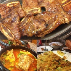 Photo taken at Kim Baek Korean Restaurant by Mina on 3/2/2013