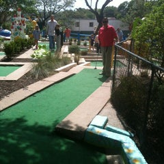 Photo taken at Peter Pan Mini Golf by Julie H. on 3/30/2013
