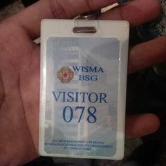 Photo taken at Wisma BSG by Satria W. on 1/27/2014