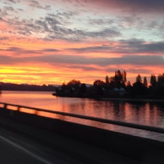 Photo taken at Evergreen Point Floating Bridge by Steve B. on 10/30/2013
