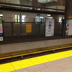 Photo taken at Broadway - City Hall SkyTrain Station by flatlandBEER (. on 2/14/2013