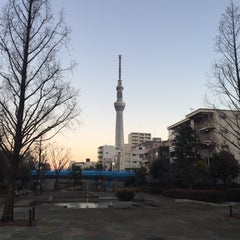 Photo taken at 大横川親水公園 by Kogoh M. on 1/25/2016
