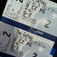 Photo taken at The Cathay Cineplex by Xueting Z. on 12/30/2012
