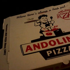 Photo taken at Andolini's Pizza by Sara S. on 3/17/2013